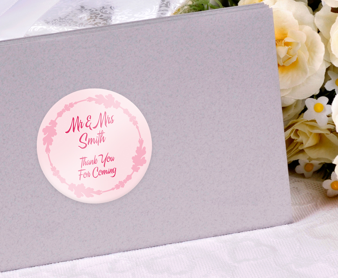 Personalised Wedding Stickers Custom Printed Buy Online Today UK