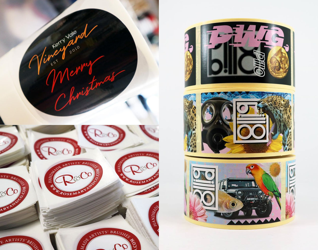Examples of Personalised Stickers