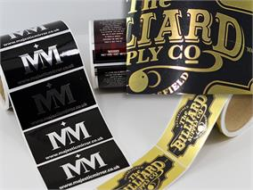 Metallic stickers and labels